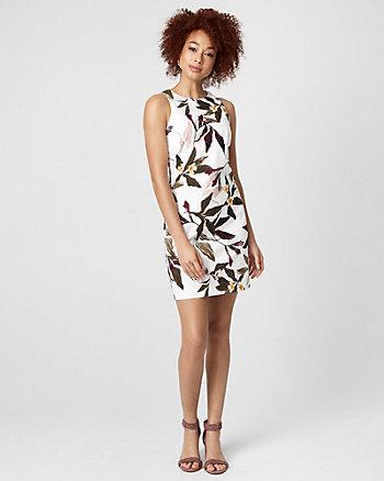 Floral Print Cotton Sateen Tunic Dress