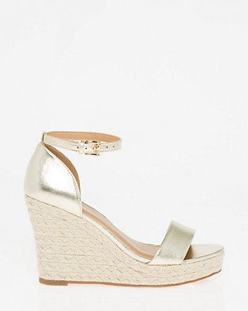 Ankle Strap Rope Wedge Sandal