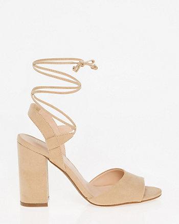 Sandale lacée en suédine