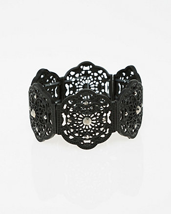 Gem Filigree Stretch Bracelet