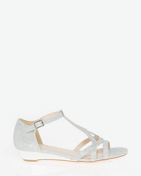 glitter t strap sandals