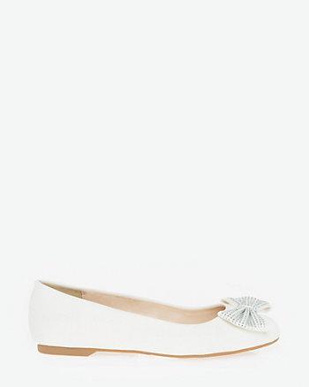 Satin Ballerina Flat