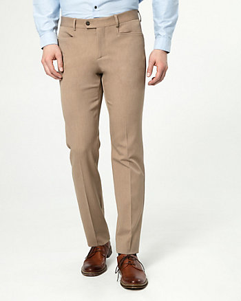 Pantalon à jambe étroite en gabardine extensible