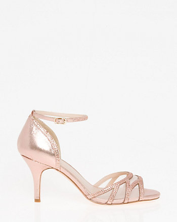 Jewels & Mesh Ankle Strap Sandal