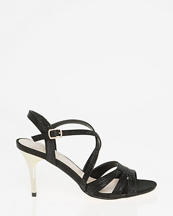 Embellished Satin Strappy Sandal