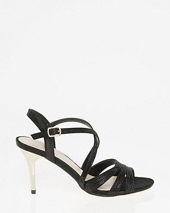 Embellished Satin Strappy Sandal