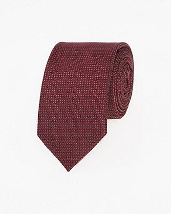 Cravate étroite deux tons en microfibre
