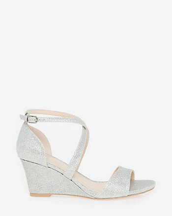 Glitter Mesh Wedge Sandal