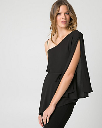Chiffon One Shoulder Blouse