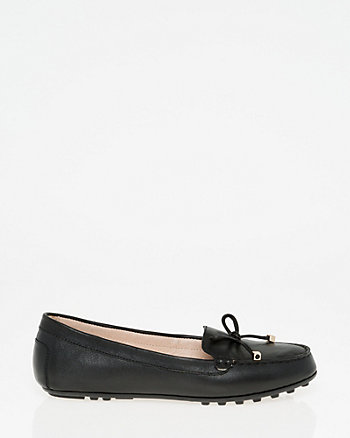 Leather Bow Loafer