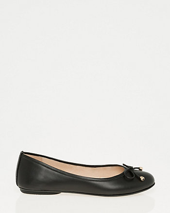 Leather Ballerina Flat