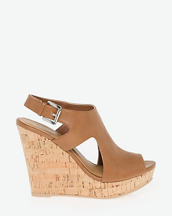 Leather-Like Cutout Sandal