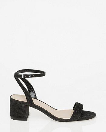 Glitter Mesh Ankle Strap Sandal
