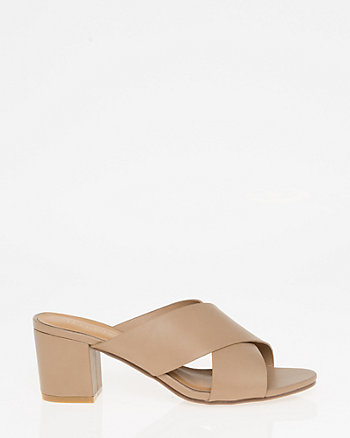 Open Toe Criss-Cross Mule