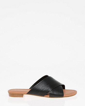 Open Toe Criss-Cross Slide Sandal