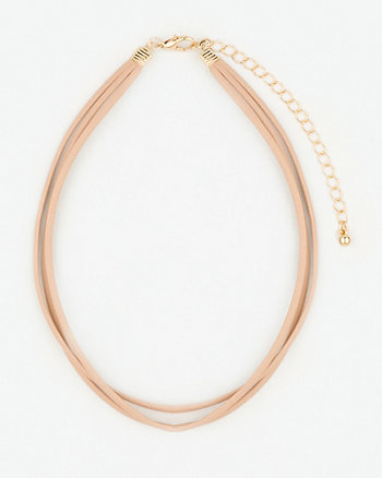 Leather-Like Choker Necklace