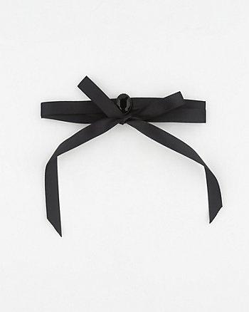 Gem & Satin Choker Necklace