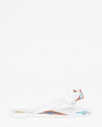 Butterfly Print Jelly Flip Flop