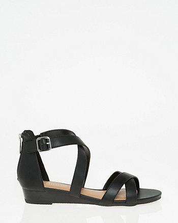 Criss-Cross Wedge Sandal