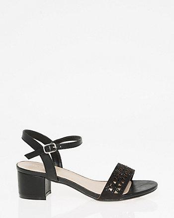 Jewel Embellished Laser Cut Sandal