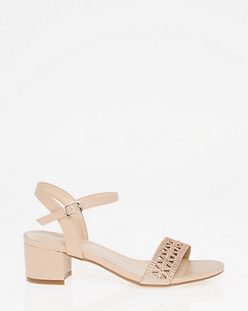 Jewel Embellished Laser Cut Sandal