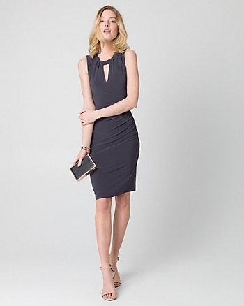 Knit Scoop Neck Shift Dress