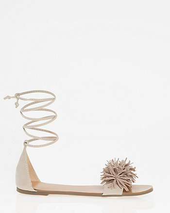 Fringe Lace-up Sandal