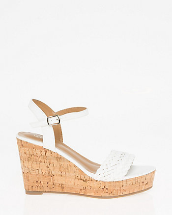 Braided Open Toe Wedge Sandal