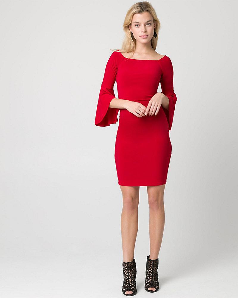 Knit Off-the-Shoulder Cocktail Dress | LE CHÂTEAU