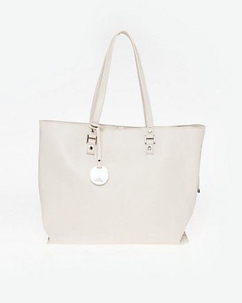 Pebble Leather-Like Tote Bag