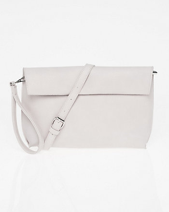 Pebble Leather-Like Clutch
