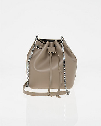 Leather-Like Bucket Bag