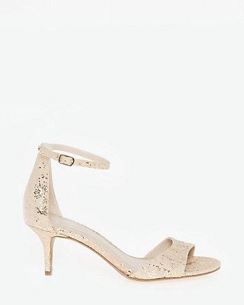 Lace & Glitter Ankle Strap Sandal