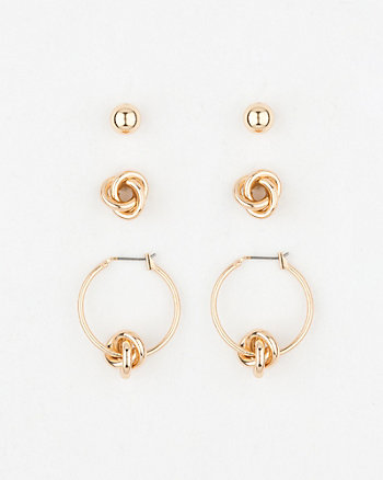 Metal Knot Earrings