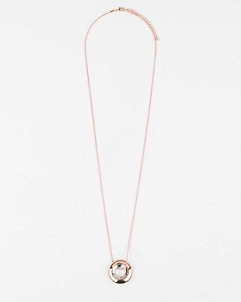 Gem Circle Pendant Necklace