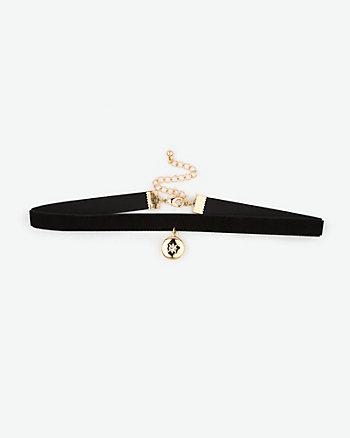 Star Locket Choker Necklace