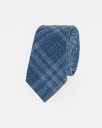 Italian-Made Wool Blend Skinny Tie