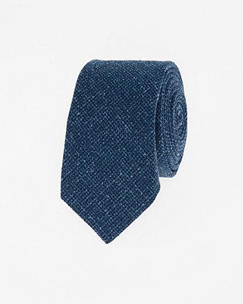 Italian-Made Wool Blend Skinny Tie