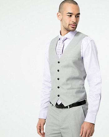 Tonal Woven Contemporary Fit Vest