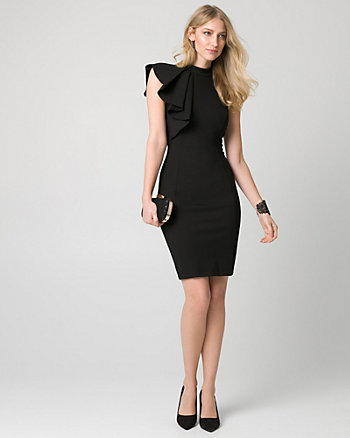Ponte One Shoulder Dress