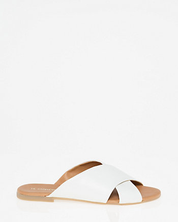 Italian-Designed Leather Slide Sandal