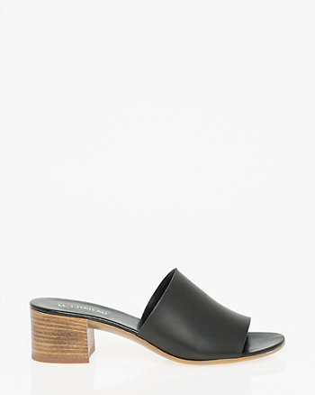 Leather Open Toe Slide