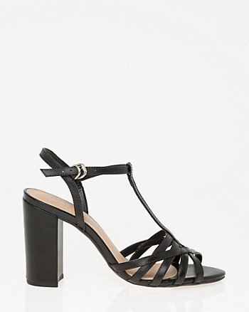Brazilian-Made Leather T-Strap Sandal