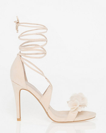 Floral Lace-Up Sandal