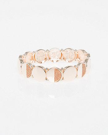 Glitter & Circle Stretch Bracelet