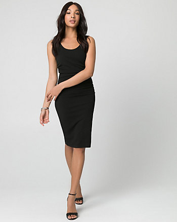 Textured Knit Scoop Neck Dress