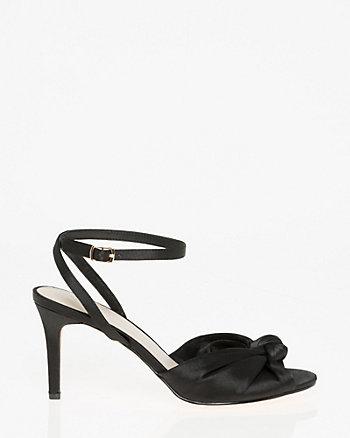 Satin Ankle Strap Sandal