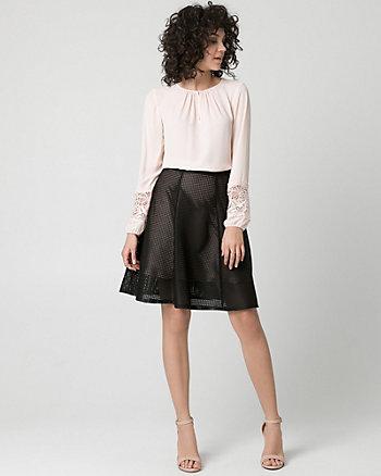 Woven Waffle Full Skirt