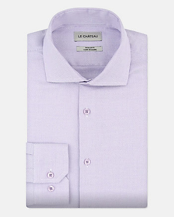 Two-Tone Cotton Regular Fit Shirt