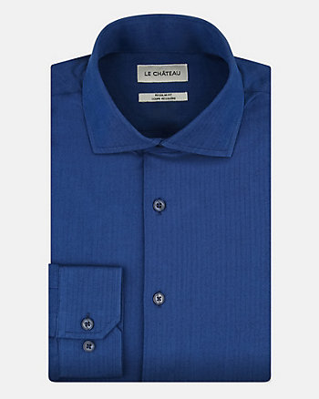 Herringbone Cotton Regular Fit Shirt